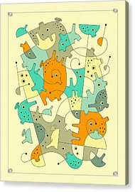 Inner Formations 4 Acrylic Print by Jazzberry Blue