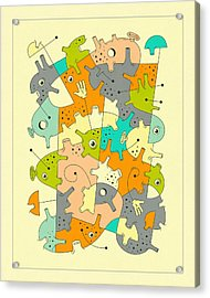 Inner Formations 6 Acrylic Print by Jazzberry Blue