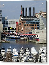 Inner Harbor - Baltimore - Maryland Acrylic Print by Brendan Reals
