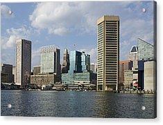 Inner Harbor - Baltimore  Maryland Acrylic Print by Brendan Reals
