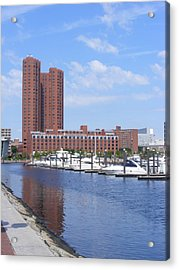 Inner Harbor Acrylic Print by James and Vickie Rankin