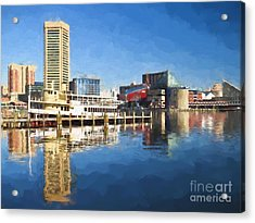 Inner Harbor Reflections  Acrylic Print