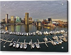Inner Harbor Acrylic Print by Elevated Element
