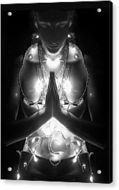 Inner Illumination - Self Portrait Acrylic Print by Jaeda DeWalt