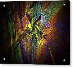 Acrylic Print featuring the digital art Inner Labyrinth by Irma BACKELANT GALLERIES