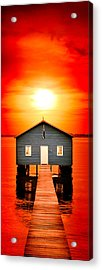 Blood Sunset Panorama Acrylic Print by Az Jackson
