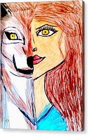 Inner Wolf Spirit Acrylic Print