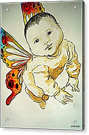Innocence Acrylic Print by Paulo Zerbato