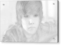 Innocent Eyes Of Justin. Acrylic Print by Erwin Verhoeven