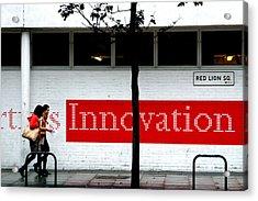 Innovative Red Acrylic Print by Jez C Self