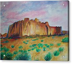 Acrylic Print featuring the painting Inscription Rock  by Eric  Schiabor