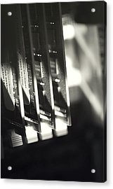 Acrylic Print featuring the photograph Inside A Computer Abstract Series - 3 by Trish Mistric