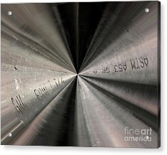 Inside A Steel Pipe Acrylic Print