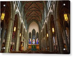 Inside Christchurch Cathedral Acrylic Print