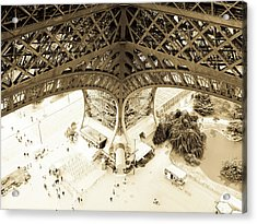 Inside Eiffel Acrylic Print by Patrick Rabbat