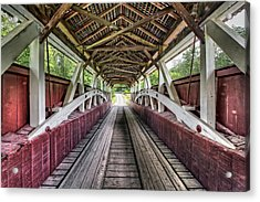 Inside Glessner Covered Bridge Acrylic Print