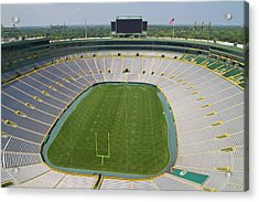 Acrylic Print featuring the photograph Inside Lambeau Field by Joel Witmeyer