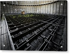 Acrylic Print featuring the photograph Inside Of Cooling Tower - Industrial Decay by Dirk Ercken
