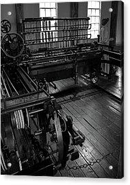 Inside Slater Mill Acrylic Print