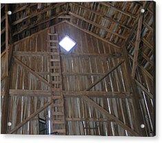 Inside The Barn Acrylic Print by Janis Beauchamp