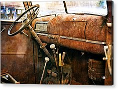 Inside The Chevy Truck Acrylic Print