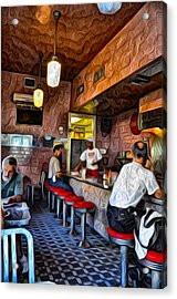 Inside The Clover Grill Acrylic Print