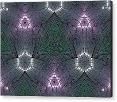Inside The Crystal Acrylic Print by Ricky Kendall
