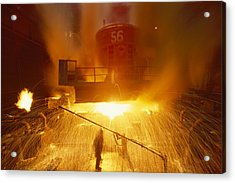 Inside The East-slovakian Steel Mill Acrylic Print by James L Stanfield