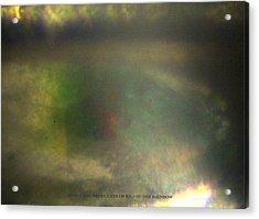 Inside The Eye Of End Of The Rainbow Acrylic Print