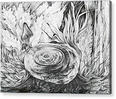 Acrylic Print featuring the drawing Inside The Forest by Anna  Duyunova