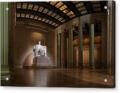 Inside The Lincoln Memorial - Custom Size Acrylic Print