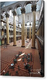 Inside The National Building Museum In Washington Dc Acrylic Print