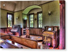 Inside The Oysterville Church  Acrylic Print
