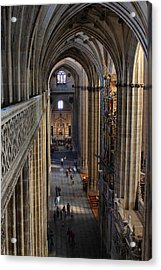 Inside The Salamanca Cathedral Acrylic Print by Farol Tomson
