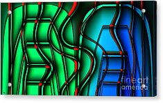 Inside The Toaster Acrylic Print by Ron Bissett