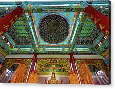 Inside Thean Hou Temple Acrylic Print by David Gn