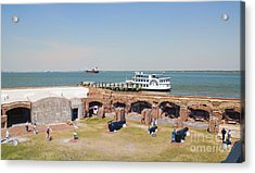 Inside View Of Fort Sumter Acrylic Print