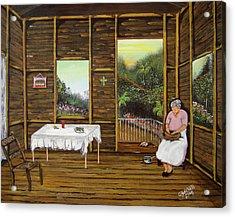 Inside Wooden Home Acrylic Print by Gloria E Barreto-Rodriguez