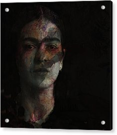 Inspiration Frida Kahlo  Acrylic Print by Paul Lovering