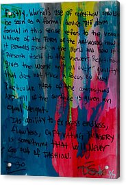 Inspiration From Warhol Acrylic Print