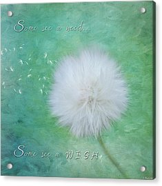 Inspirational Art - Some See A Wish Acrylic Print