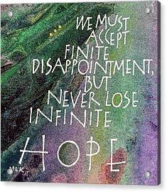 Inspirational Saying Hope Acrylic Print