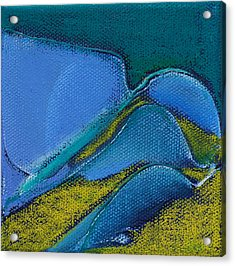 Inspired Blue 17 Acrylic Print by Jacqueline Steudler