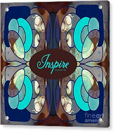 Inspired By Blue Abstract Tote Bag Art By Omashte Acrylic Print