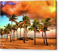 Crandon Park Beach Acrylic Print