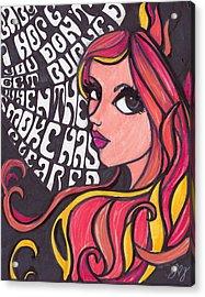 Althea Acrylic Print by Jennifer  Love-Gironda