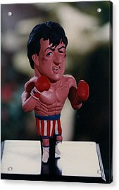 Inspired Rocky Acrylic Print by Joaquin Carrasquilla