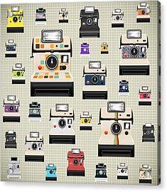 Instant Camera Pattern Acrylic Print
