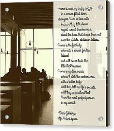#instapoet #poetrycommunity #poetry Acrylic Print by Danielle McGaw