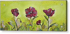 Intensity Of The Poppy II Acrylic Print